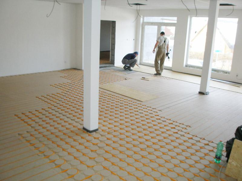 Podlahové vytápění dilatace